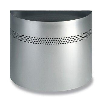 Obrázek produktu Kovový odpadkový koš Durable půlkruh - 20 l, stříbrný