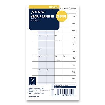 Obrázek produktu Plánovací kalendář 2018, Aj - náplň osobních diářů Filofax