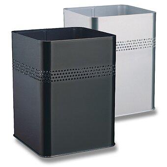 Obrázek produktu Kovový odpadkový koš Durable čtvercový - stříbrný
