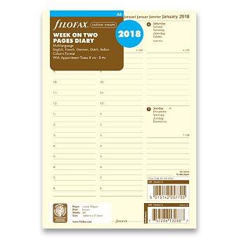Obrázek produktu Týdenní kalendář 2018, 5 jazyků - náplň A5 diářů Filofax