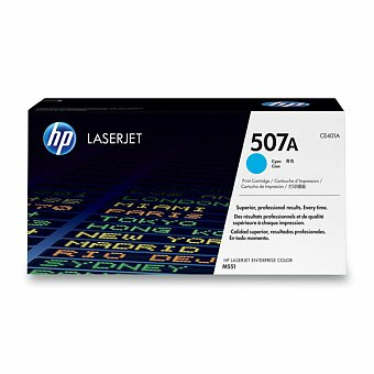 Obrázek produktu Toner HP CE401A  č. 507A pro laserové tiskárny - cyan (modrý)