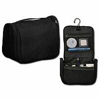 ADERES - polyesterová kosmetická taška, 600D, černá