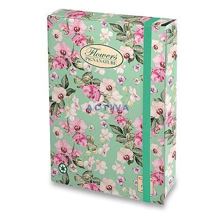 Obrázek produktu Pigna Nature Flowers - box A4, hřbet 70 mm