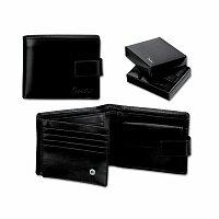 SANTINI GASPARO - kožená pánská peněženka, černá