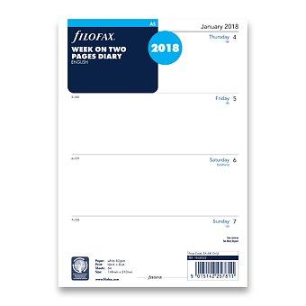 Obrázek produktu Týdenní kalendář 2018, Aj - náplň A5 diářů Filofax