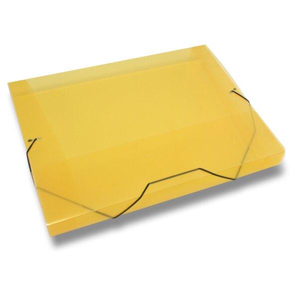 Box na dokumenty Transparent žluté