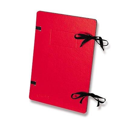 Obrázek produktu Emba - spisové desky s tkanicí - A4, červené