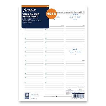 Obrázek produktu Týdenní kalendář 2018, 5 jazyků - náplň A4 diářů Filofax