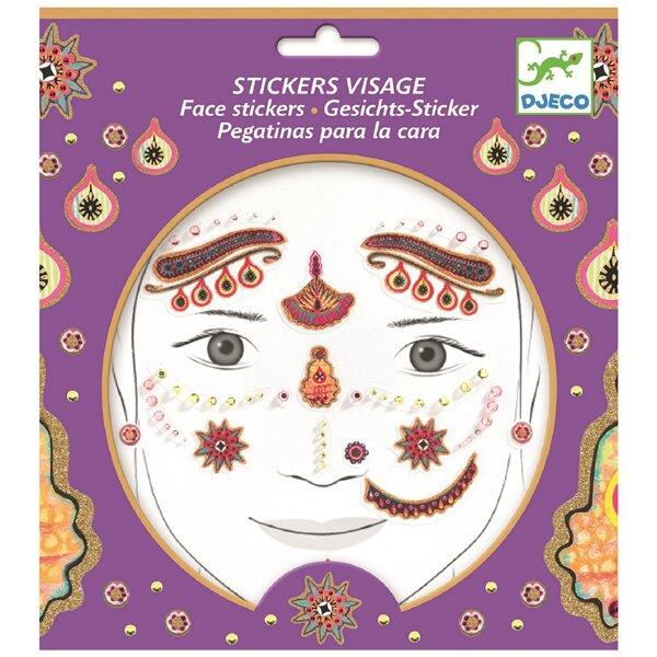 Samolepky na obličej Djeco Indiánská princezna Djeco