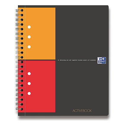 Obrázek produktu Oxford Activebook - kroužková záznamní kniha - A5+, 80 l., čtverečkovaná