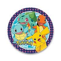 Papírové talířky Pokémon