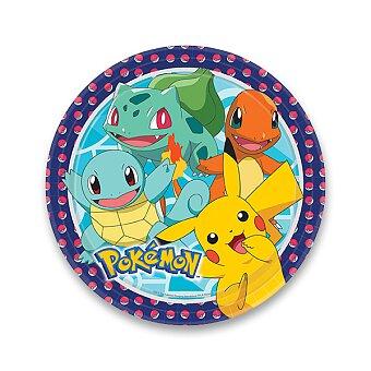 Obrázek produktu Papírové talířky Pokémon - průměr 23 cm, 8 ks