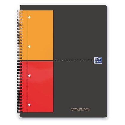 Obrázek produktu Oxford Activebook - kroužková záznamní kniha - A4+, 80 l., čtverečkovaná