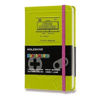 Obrázek produktu Zápisník Moleskine Super Mario - tvrdé desky - S, linkovaný, zelený