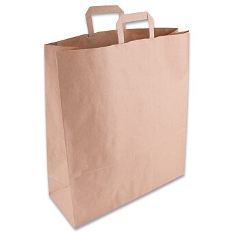 Obrázek produktu Papírová taška s plochým uchem - nosnost 10 kg, 45 x 17 x 48 cm, 100 ks