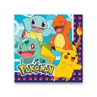 Obrázek produktu Papírové ubrousky Pokémon - 16 ks