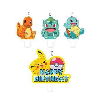 Obrázek produktu Narozeninové svíčky Pokémon - 4 ks