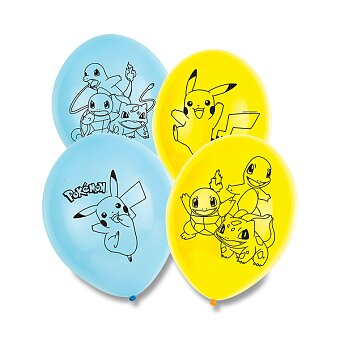 Obrázek produktu Nafukovací balónky Pokémon - 6 ks