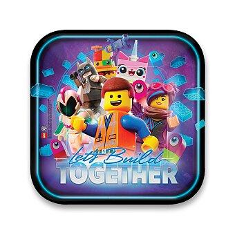 Obrázek produktu Papírové talířky Lego Movie 2 - průměr 23 cm, 8 ks