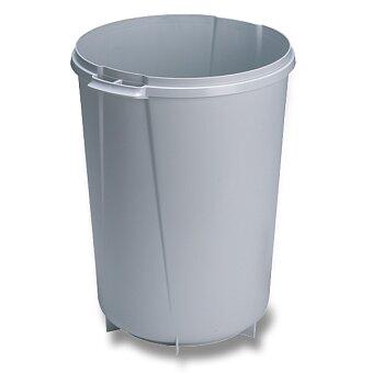 Obrázek produktu Velkoobjemový odpadkový koš Durable kulatý - 40 l, šedý