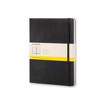Obrázek produktu Zápisník Moleskine - tvrdé desky - XL, čtverečkovaný, černý