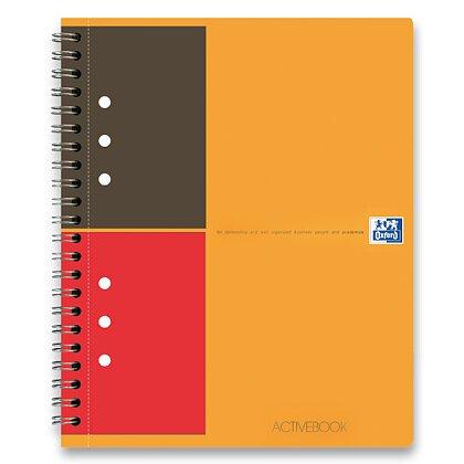 Obrázek produktu Oxford Activebook - kroužková záznamní kniha - A5+, 80 l., linkovaná