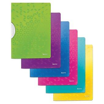 Obrázek produktu Plastový rychlovazač s klipem Leitz Wow - A4, s klipem, na 30 listů, výběr barev