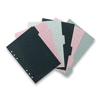 Obrázek produktu Rozřazovač Confetti 6 záložek - náplň A5 diářů Filofax