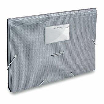 Obrázek produktu Aktovka Foldermate Style Plus - A4, 13 kapes, stříbrná