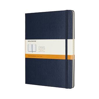 Obrázek produktu Zápisník Moleskine - tvrdé desky - XL, linkovaný, modrý