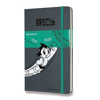 Obrázek produktu Zápisník Moleskine Astro Boy - L, linkovaný, tmavě šedý