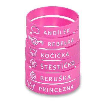 Obrázek produktu Náramek na Zdravou lahev - růžový, výběr motivů