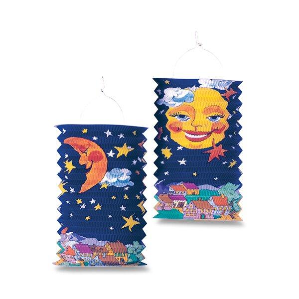 Papírový lampión Sun and Moon délka 28 cm