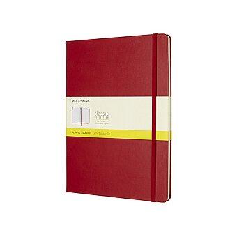 Obrázek produktu Zápisník Moleskine - tvrdé desky - XL, čtverečkovaný, červený