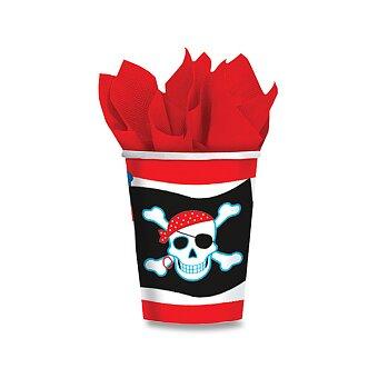 Obrázek produktu Papírové kelímky Pirate Party - objem 0,25 l, 8 ks