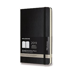 Diář Moleskine 2019 - PRO, tvrdé desky