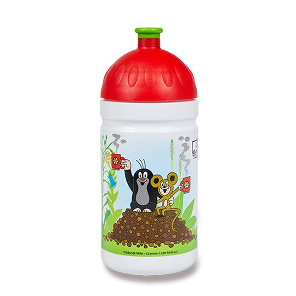 Zdravá lahev 0,5 l Krtek a jahody, červená, limitovaná edice