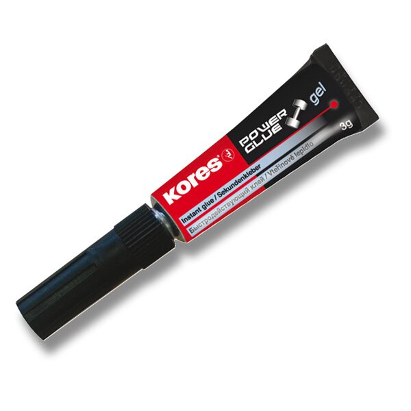 Vteřinové lepidlo Kores Power Glue Gel 3 g