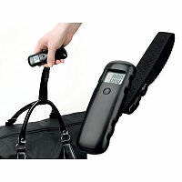 HEFTER - plastová digitální váha na zavazadla, černá