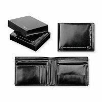 SANTINI ANGELO - kožená pánská peněženka, černá