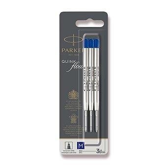 Obrázek produktu Náplň Parker QuinkFlow do kuličkové tužky - M, modrá, 3 ks