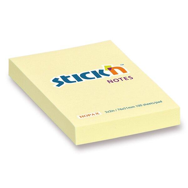 Samolepicí bloček Hopax Stick'n Notes 76 x 51 mm, 100 listů