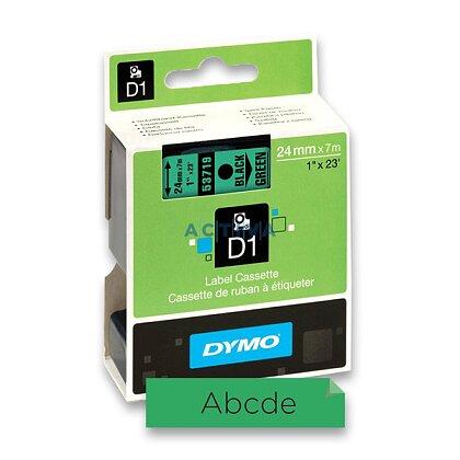 Obrázek produktu Dymo D1 S0720890 - originální polyesterová páska - 19 mm × 7 m, černo-zelená