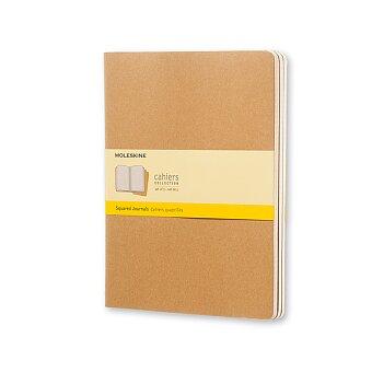Obrázek produktu Sešity Moleskine Cahier - XL, čtverečkované, 3ks, karton