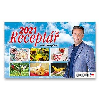 Obrázek produktu Stolní kalendář Receptář 2021 - 22,6 x 13,9 cm, obrázkový