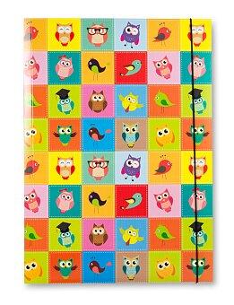 Obrázek produktu Školní desky A3 - motvi Sovičky