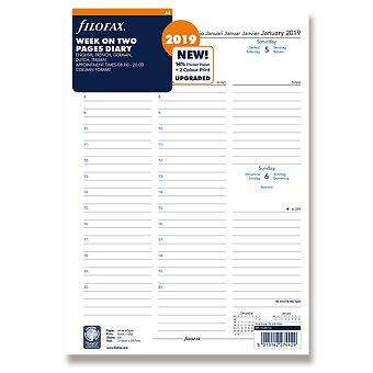 Obrázek produktu Týdenní kalendář 2019, 5 jazyků - náplň A4 diářů Filofax