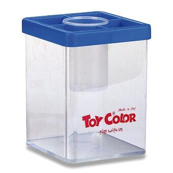 Obrázek produktu Stojánek na vodu Toy Color - transparentní s víčkem, mix barev