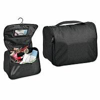 COSMETA - polyesterová kosmetická taška, 600D, černá