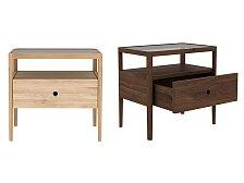 Noční stolek se zásuvkou Ethnicraft Spindle Bedside Table